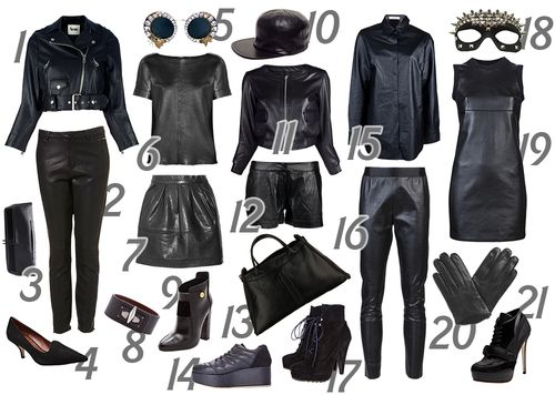 Collage leather looks 3-2