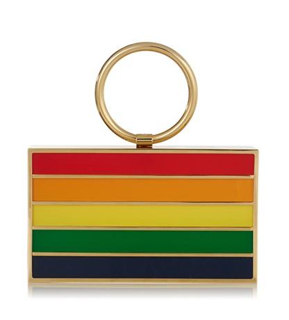 Rainbow Pandora Clutch
